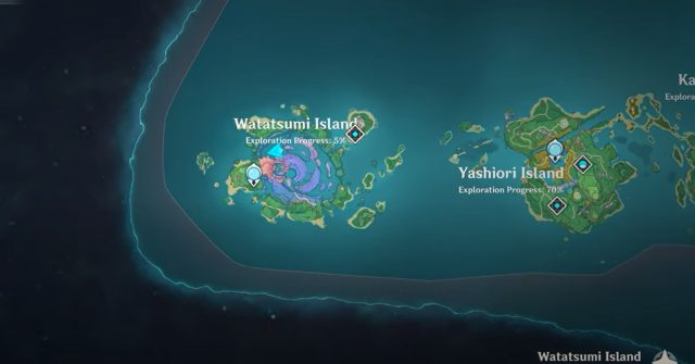 Genshin Impact Kid Kujirai Locations Watatsumi and Seirai Island