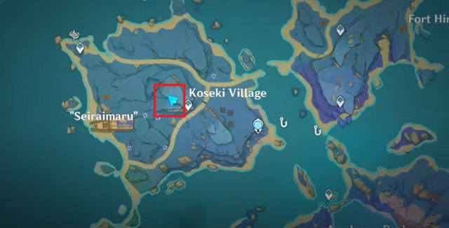 Kid Kujirai Location Seirai Island