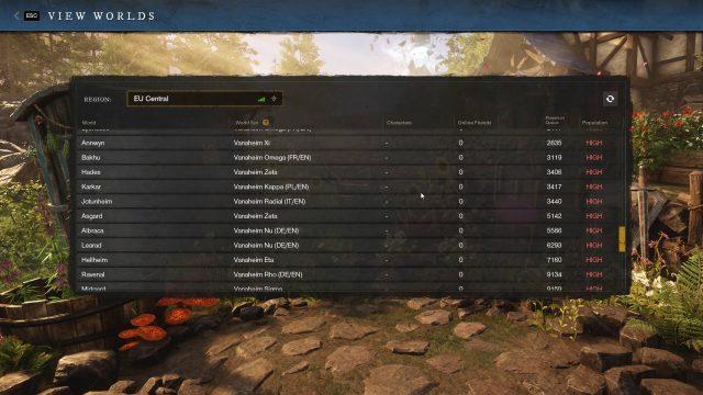 New World Server Name