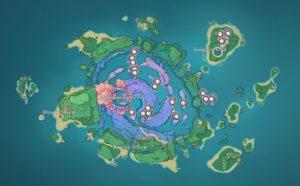 Sango Pearl Locations