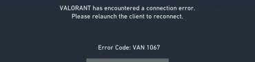 Van 1067 Error Code Fix – Valorant