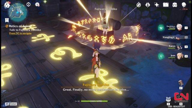 activate the mechanism genshin impact relics of seirai