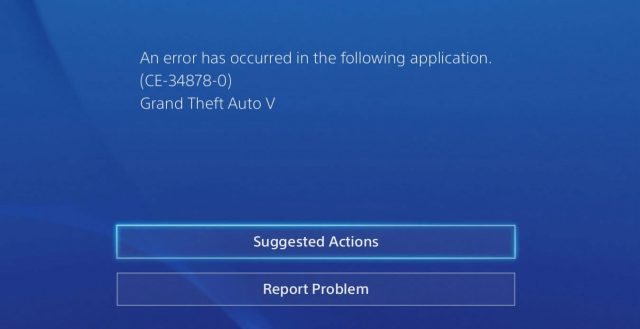 ce-34878-0 error code fix gta v ps4