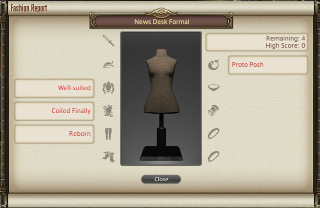 ffxiv fashion report news desk formal