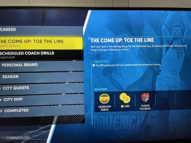 NBA 2k22 the Come Up - Toe the Line Quest Bug Fix