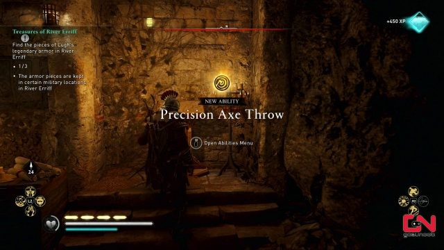 spinning harpoon percussion arrow precision axe throw abilities river raids update ac valhalla