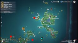 where to find fishing spots in genshin islands