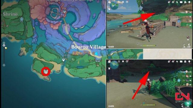 where to find genshin impact komaki cave of ill fortune location