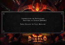 Diablo 2 Queue Not Moving Error