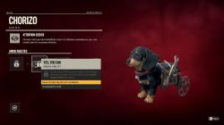 chorizo special abilities how to unlock