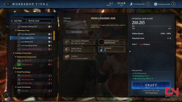 how to upgrade tools in new world