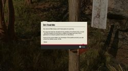 read the note on the pole to start the treasure hunt