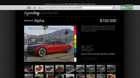gtav vehicle Albany Alpha middle size