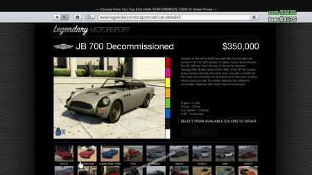gtav vehicle Dewbauchee JB 700 middle size