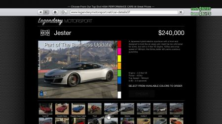gtav vehicle Dinka Jester middle size