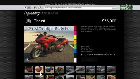 gtav vehicle Dinka Thrust middle size