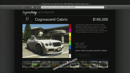 gtav vehicle Enus Cognoscenti Cabrio middle size