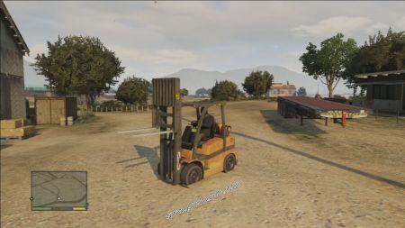 gtav vehicle HVY Forklift middle size