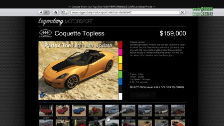 gtav vehicle Invetero Coquette Topless middle size