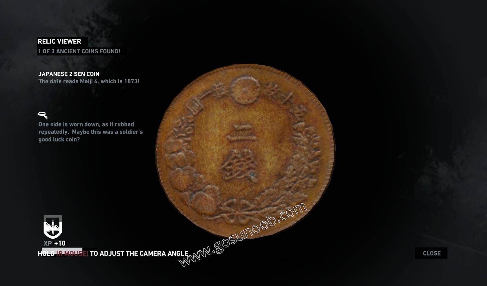 tomb raider ancient coins